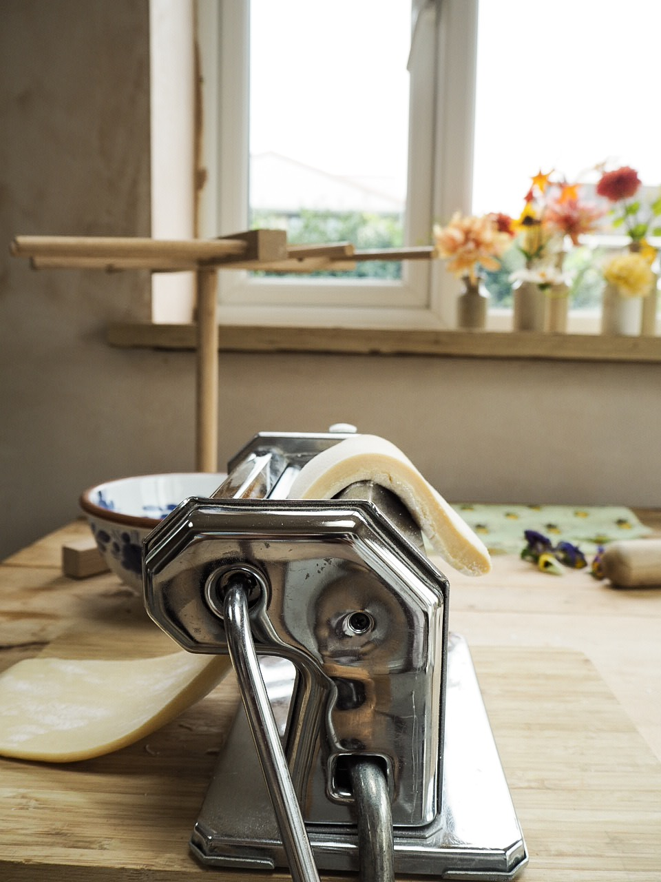 Roll out the Fresh pasta to the thinnest setting