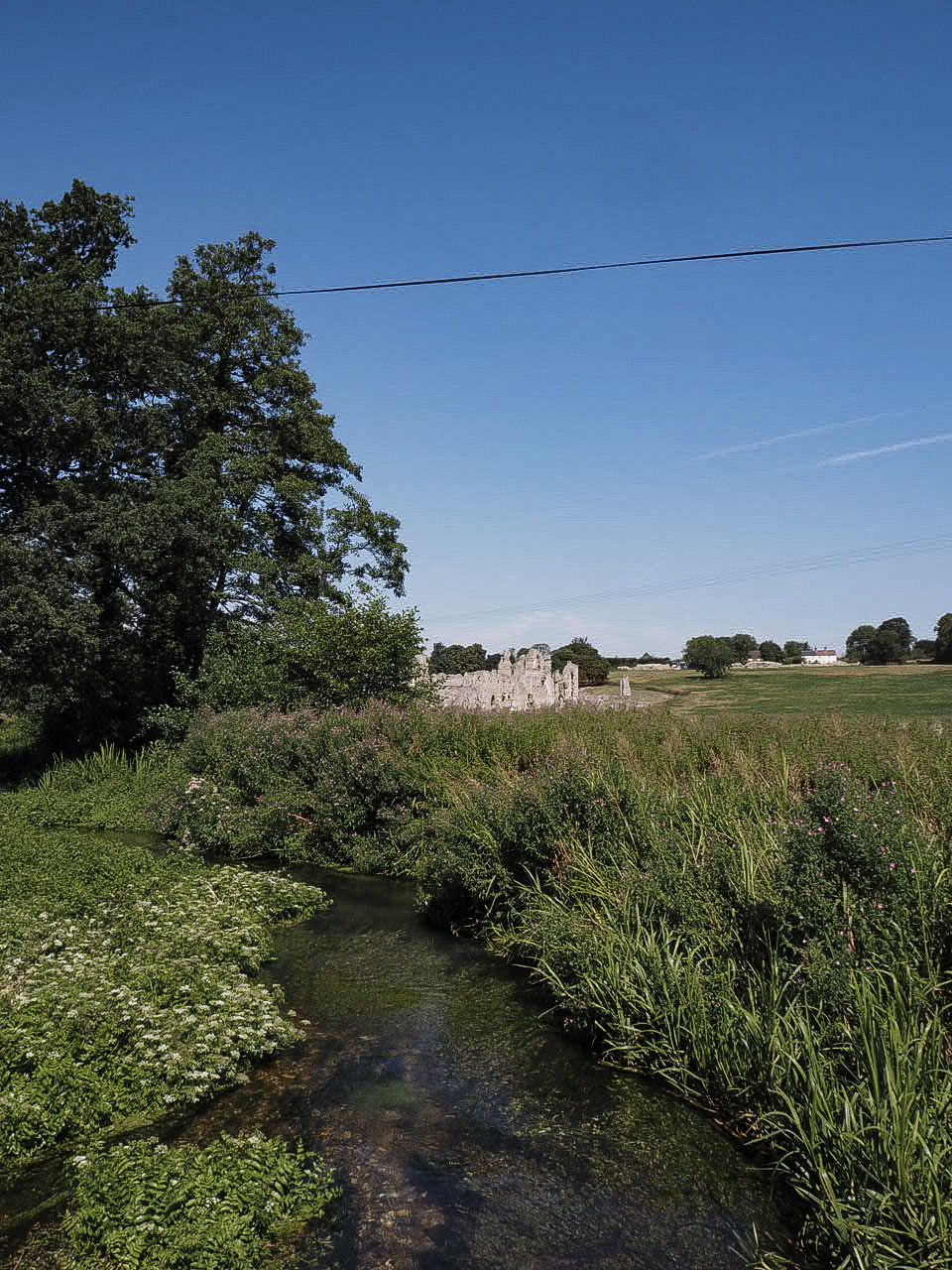 The bury and the river Nar in castle acre