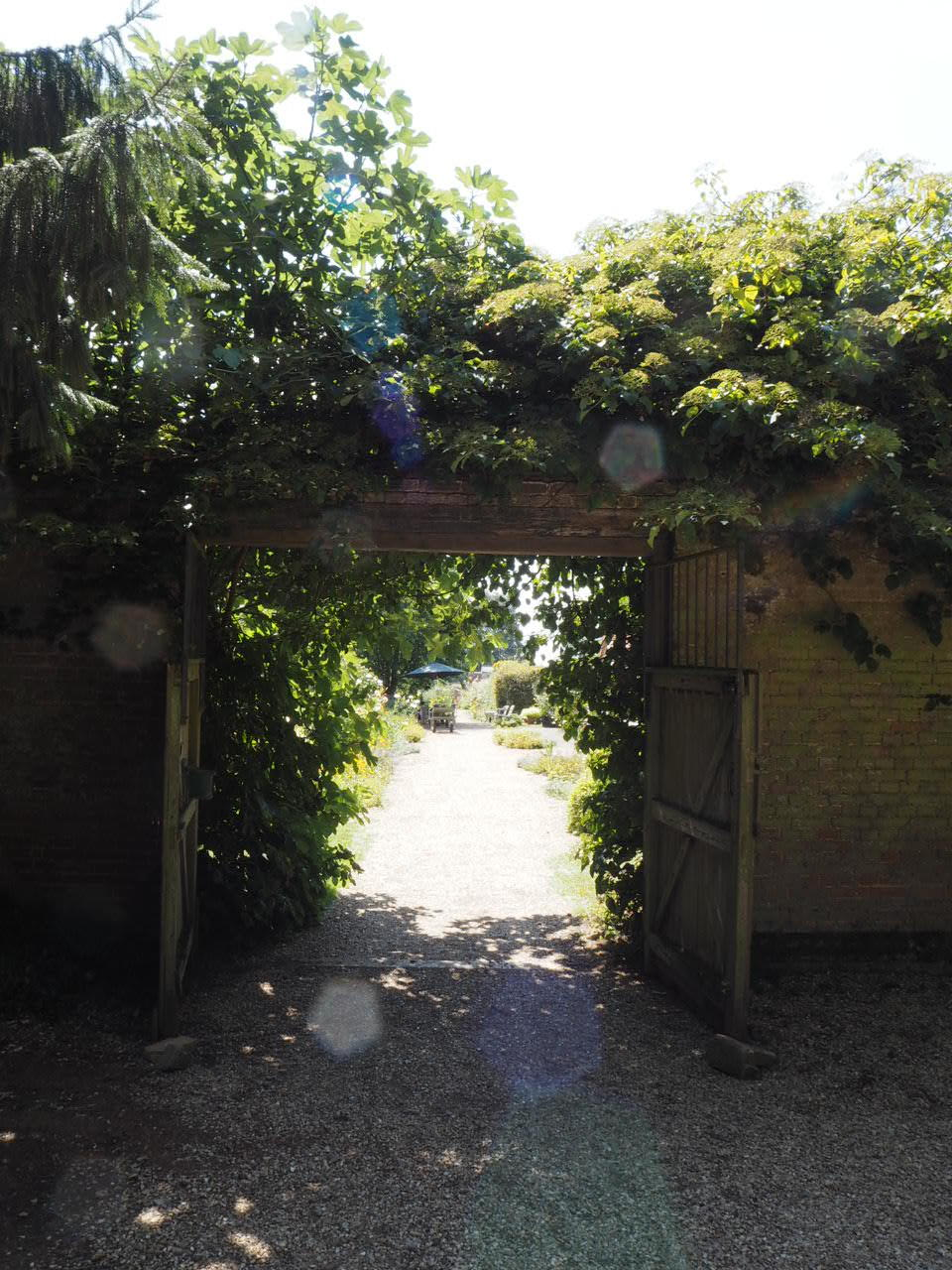 The entrance to West Acre gardens