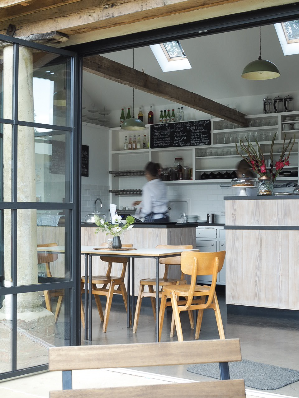 The barn cafe at west acre gardens