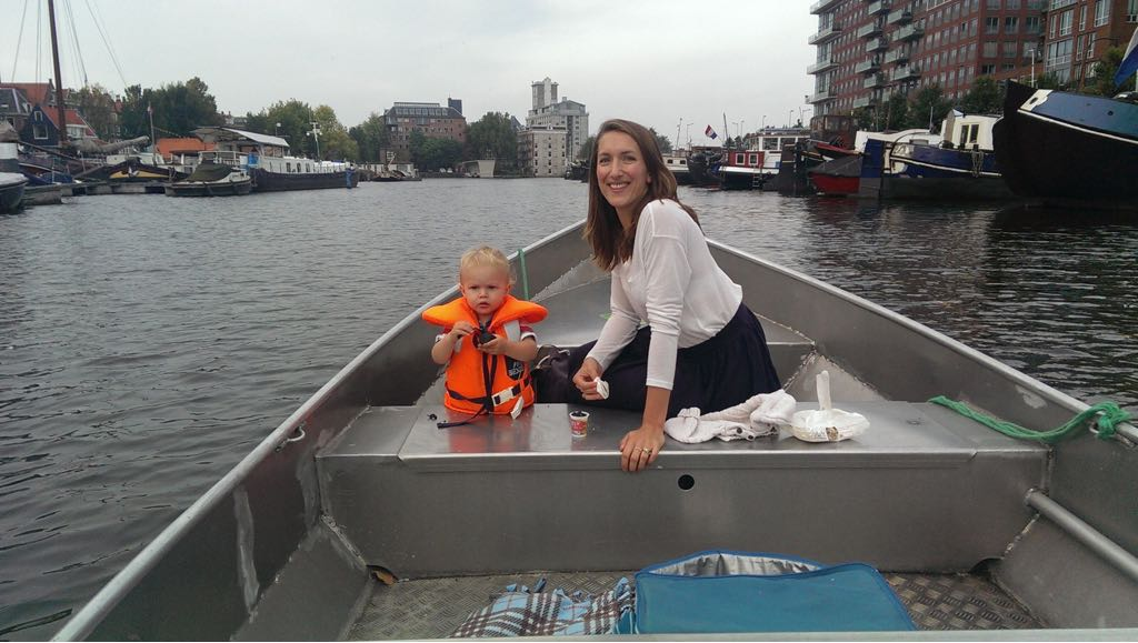 Boating on the canals with small children