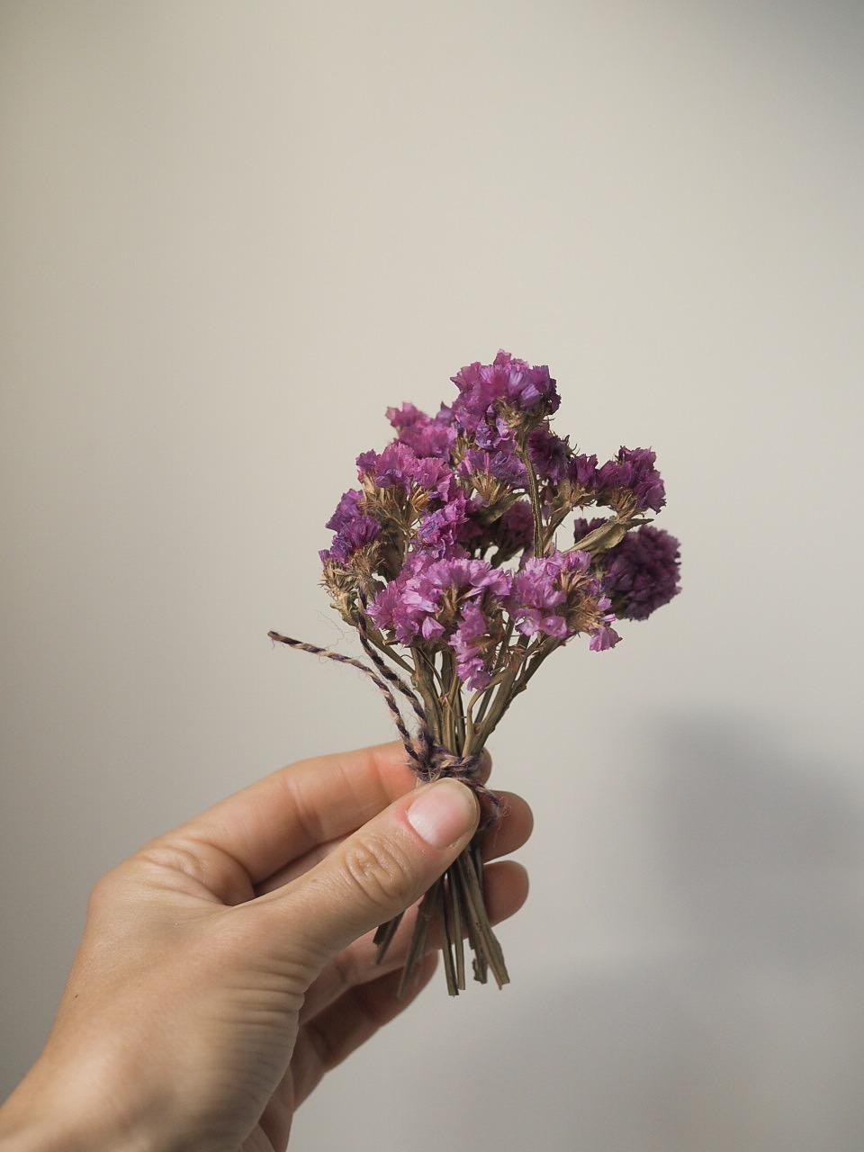 Statice purple dried flower