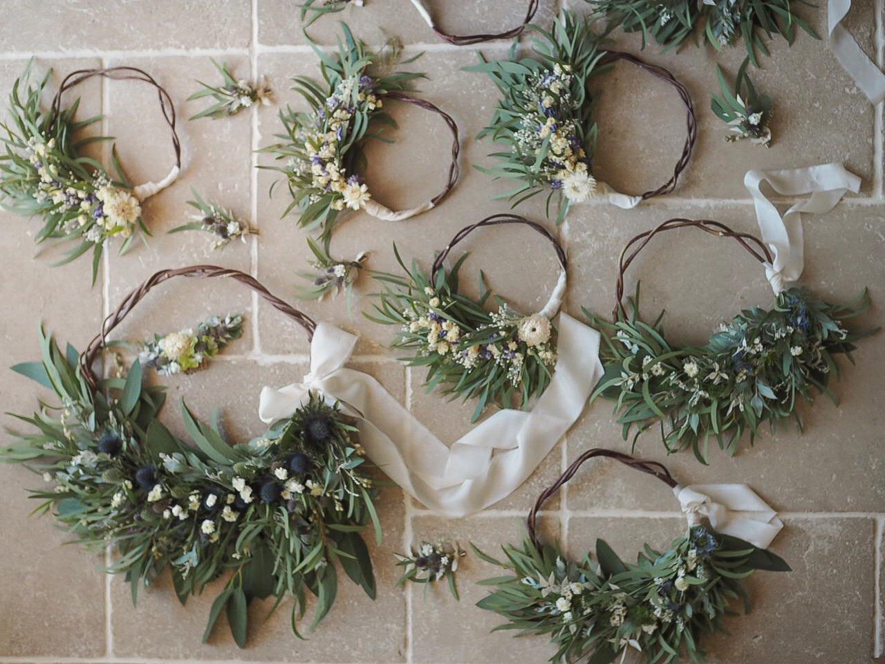 Dried Flower Wedding Hoops