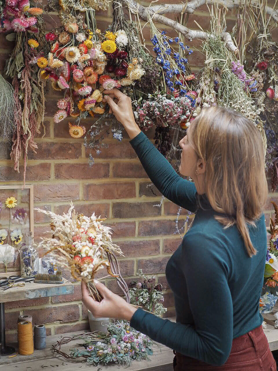 hanging flowers out to dr