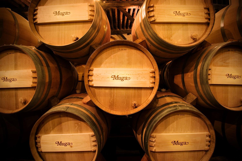 Muga Wine in its bespoke French oak casks.