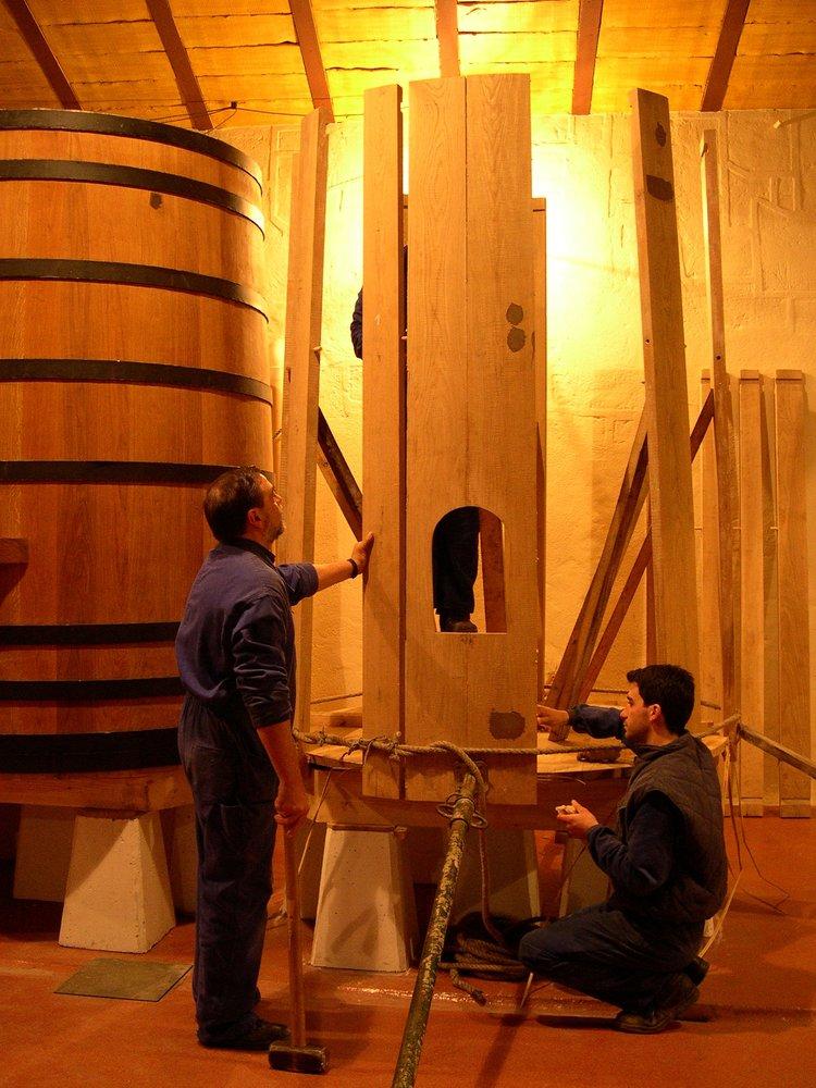 The making of the casks at Bodega Muga's artisanal cooperage.