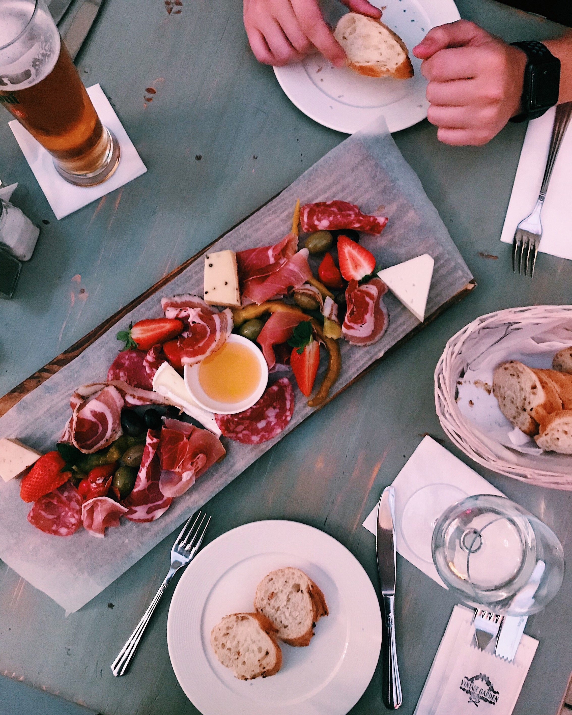 Our charcuterie board at Vintage Garden