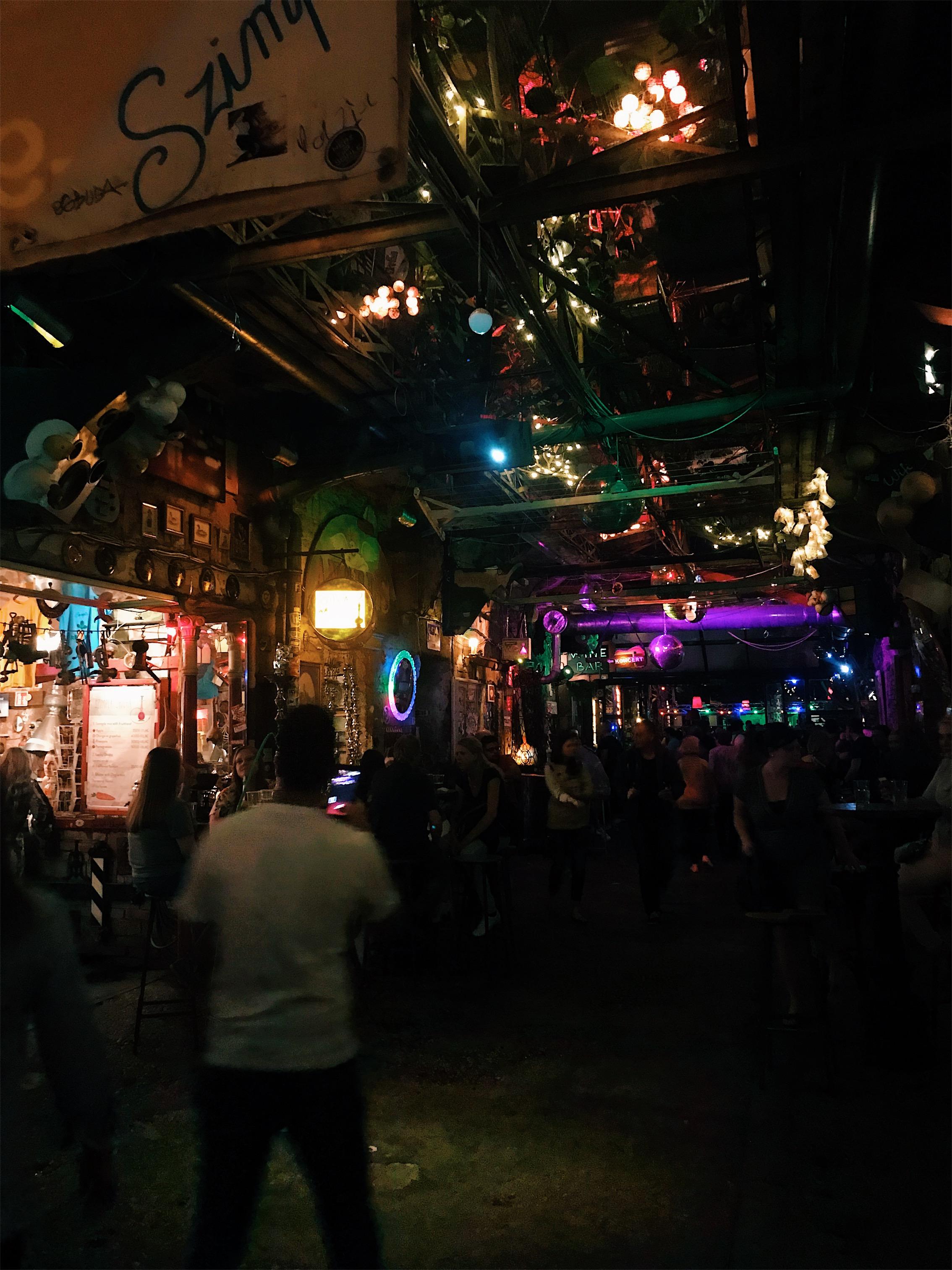 Szimpla Kert ruins bars at night
