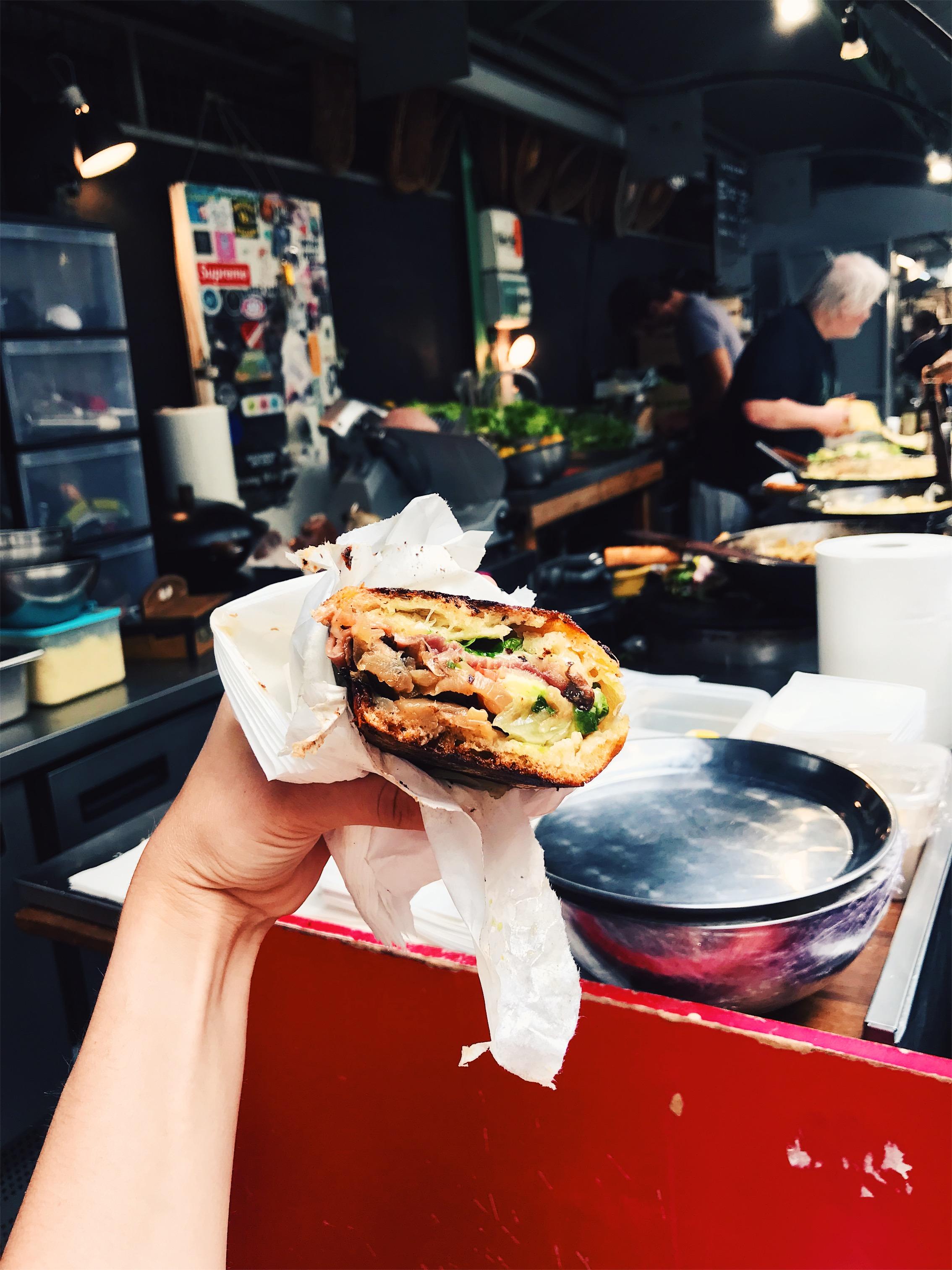 My half of the sandwich from Chez Alain Miam Miam