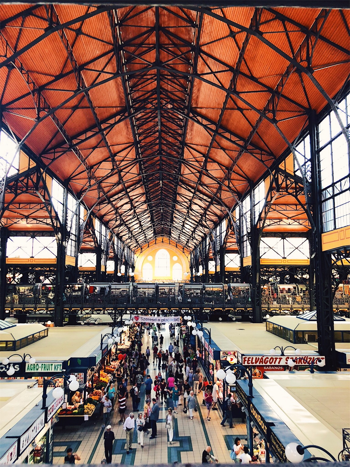 View from upstairs at Great Market Hall