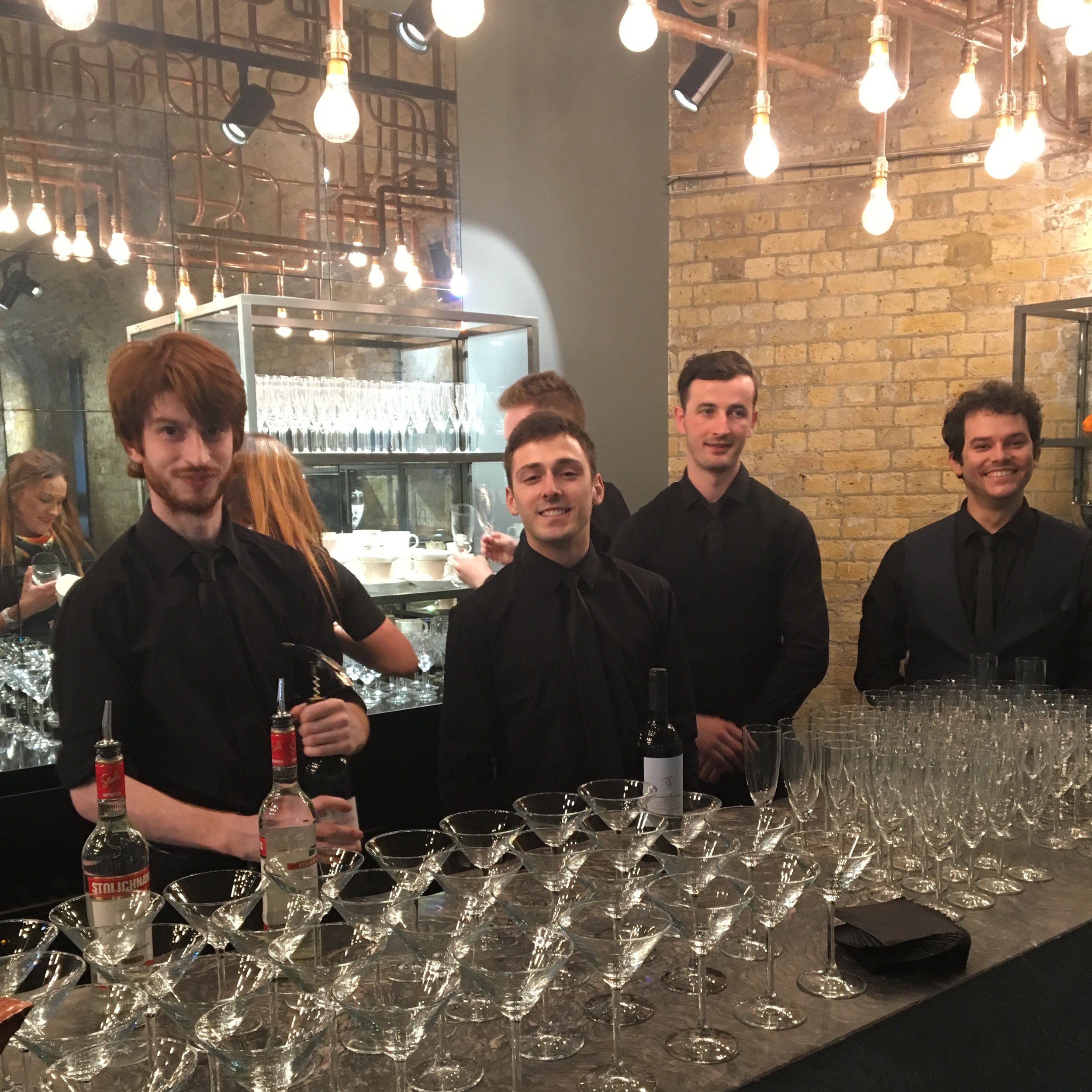 Mixologist ready for service at a corporate gig