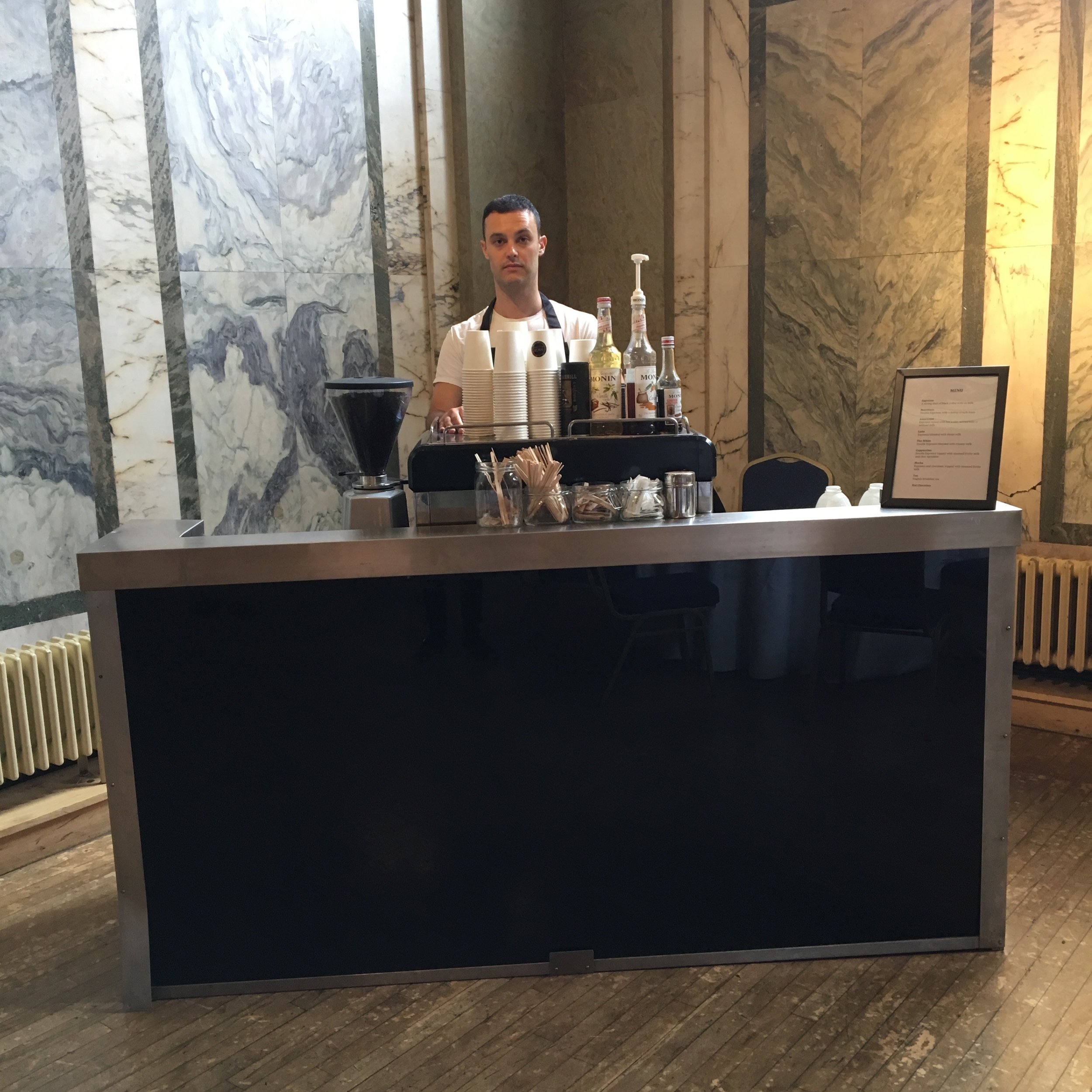Ready for 3 day Coffee in Shoreditch town hall