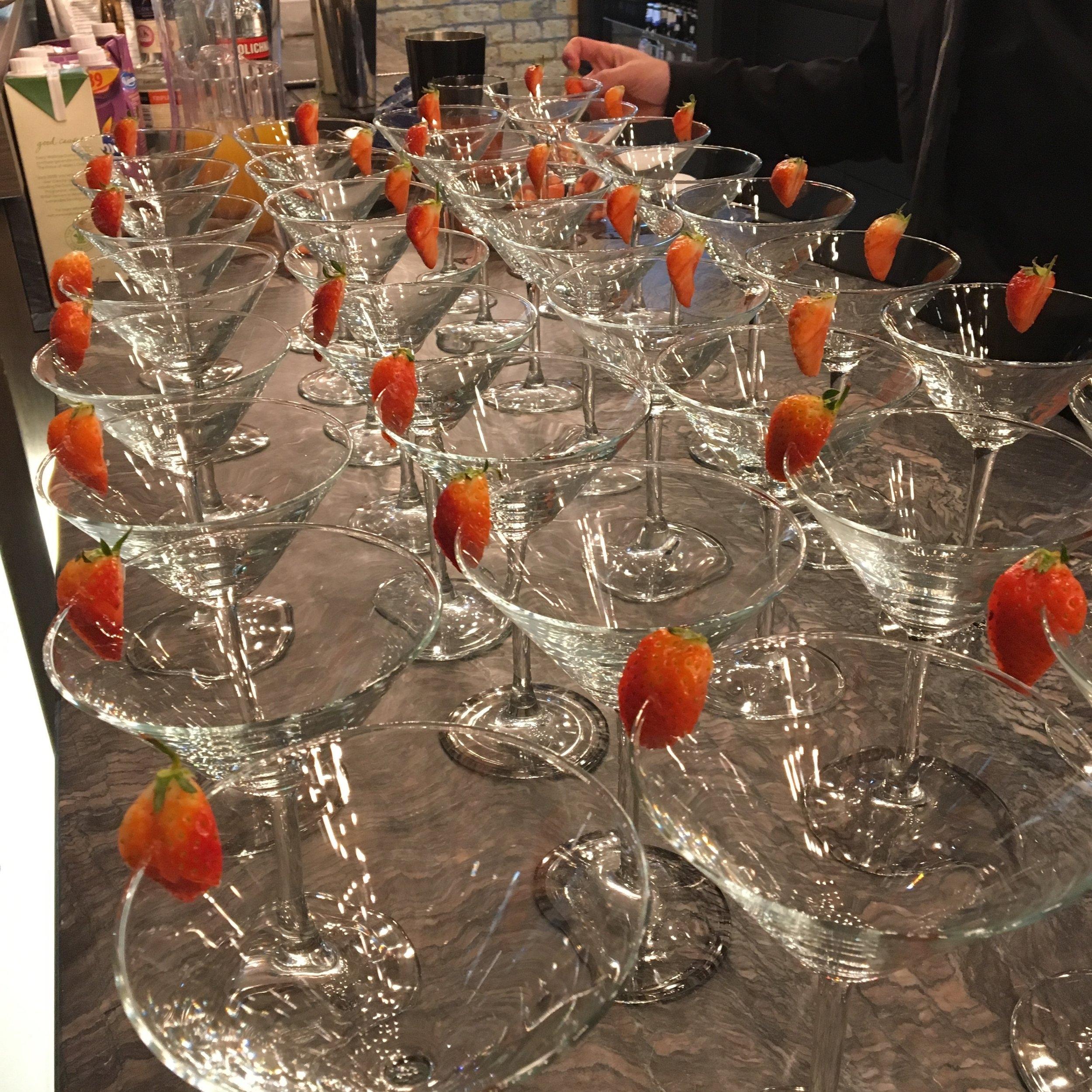 Strawberry Daiquiris are at the Hilton