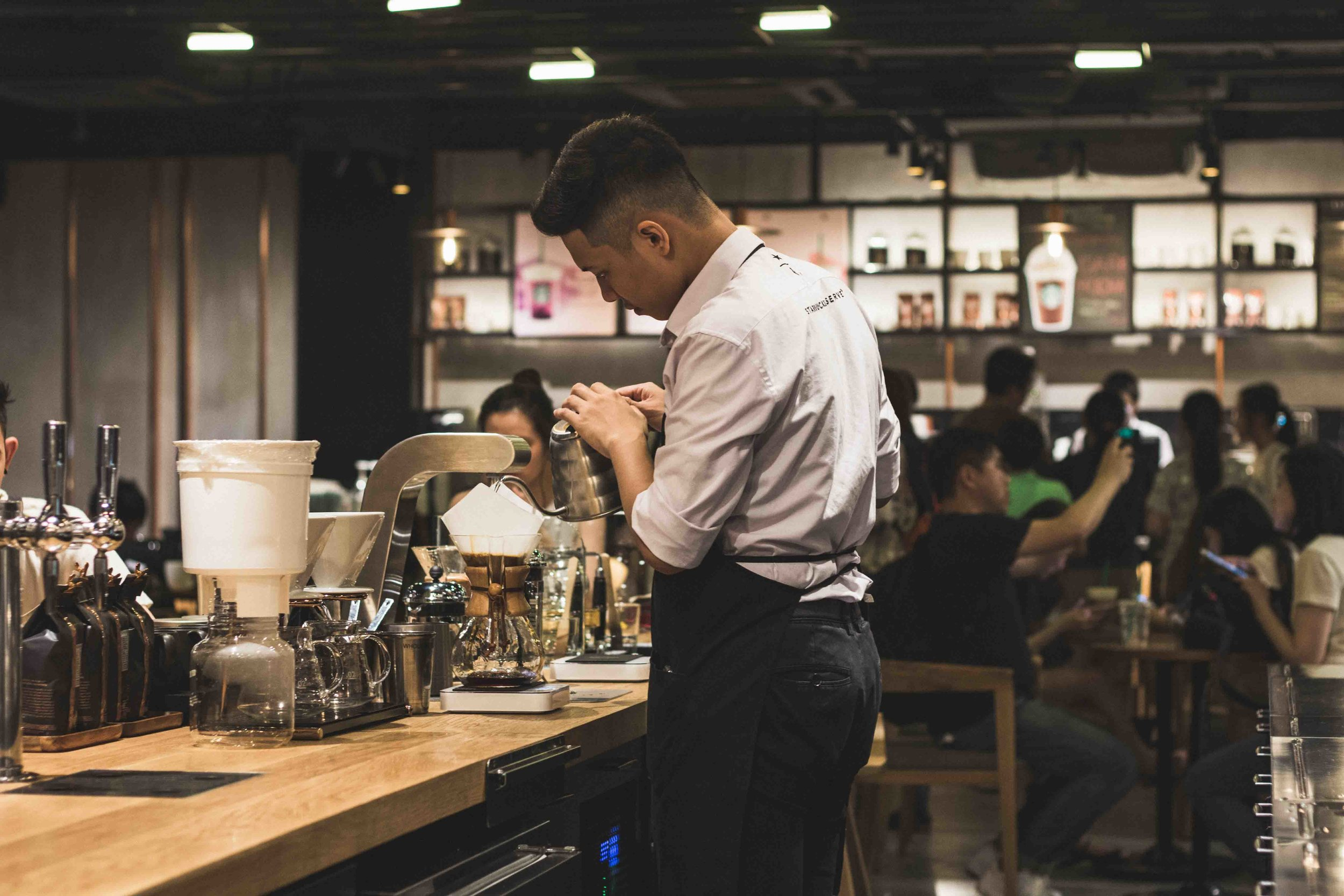 Barista work, event coffee