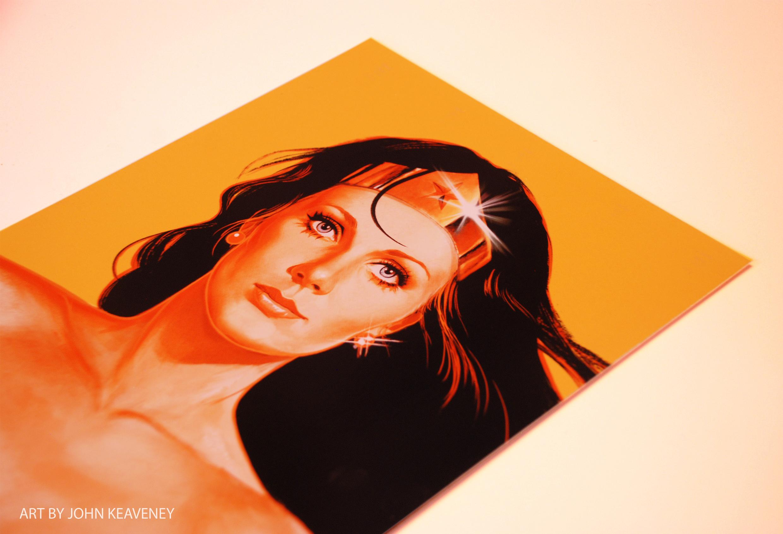 Wonder Woman Print Yellow version Art By John Keaveney.jpg