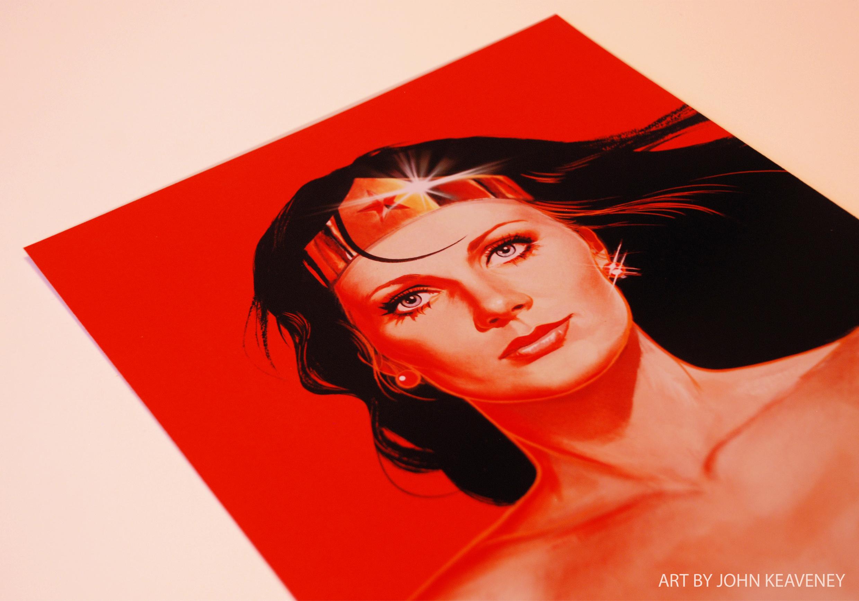 Wonder Woman Print Red version Art By John Keaveney.jpg
