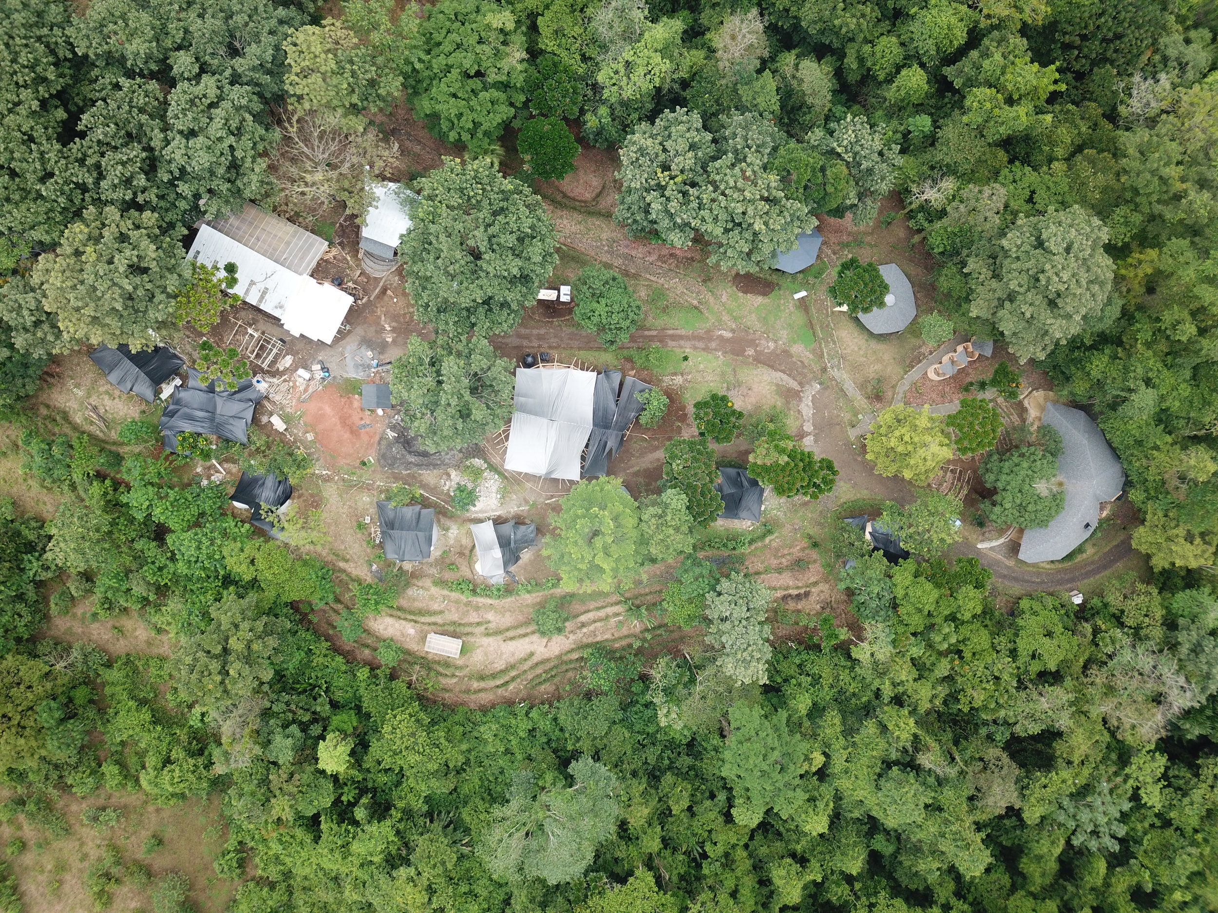 Aerial image of the Brave Earth Retreat Center Site