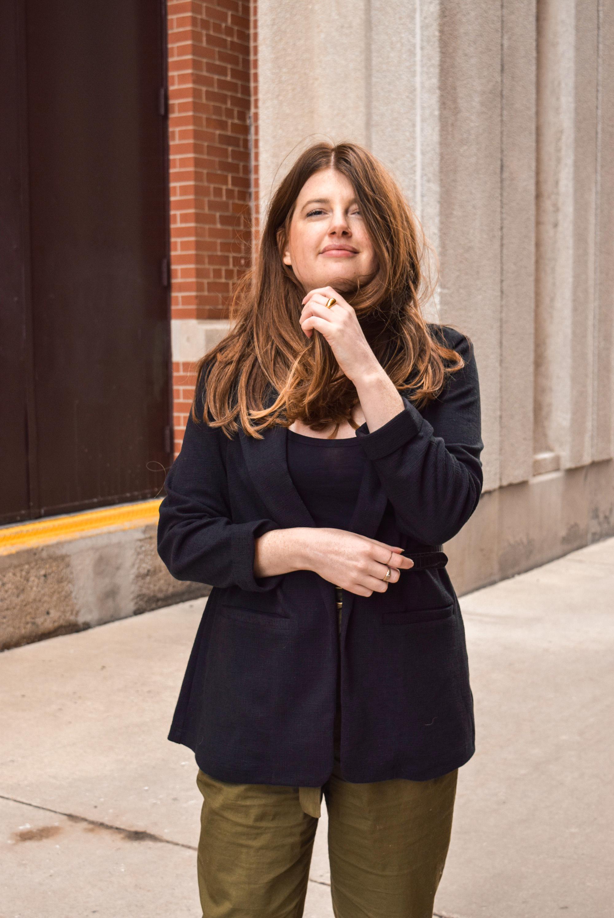 black vintage blazer