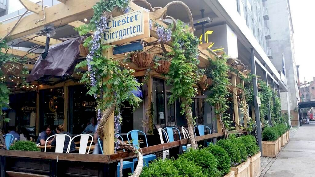 Biergarten  - lanscape development