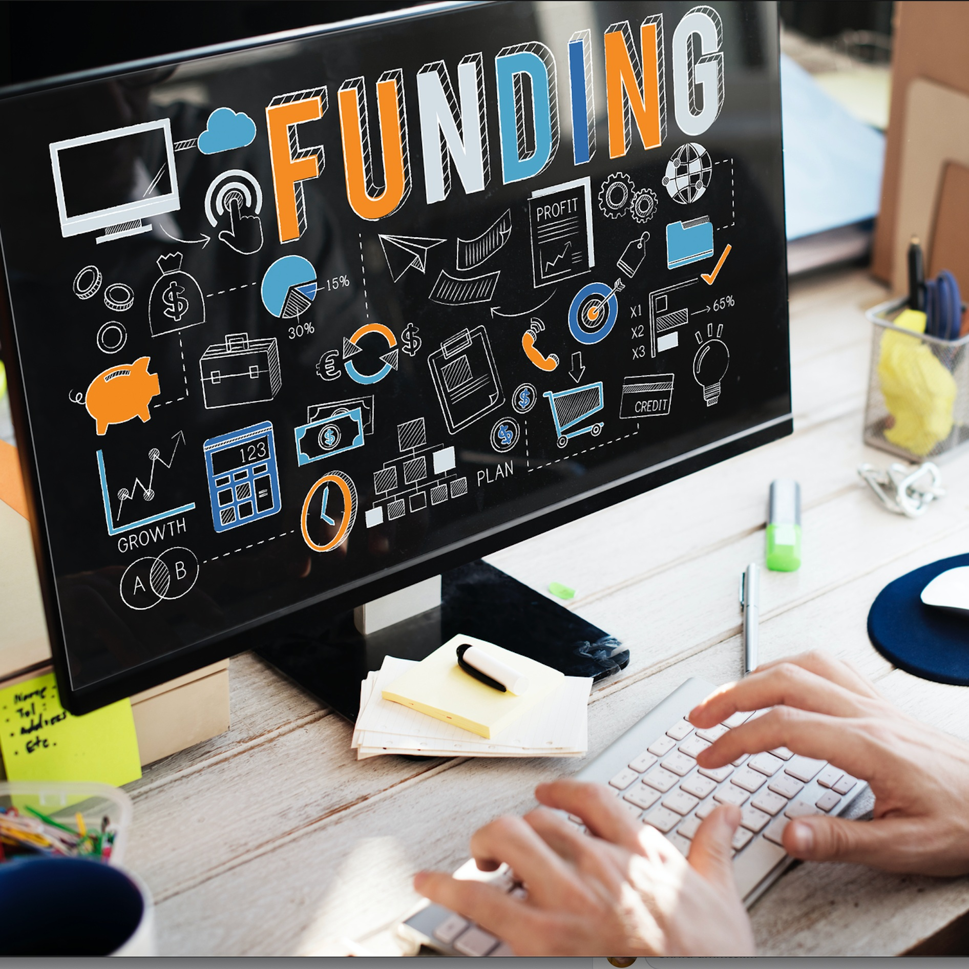 FUNDING - We help you prepare for fundraising for your startup or project, whether from an investorr, a grant scheme, crowdfunding, or a tax deduction. Pitchdecks and grant proposals are our speciality.We also make sure you deliver those reports to the grant providers on time and remind you when it's time to start peparing for the next deadline.
