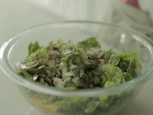 comida con vinagreta nutritiva