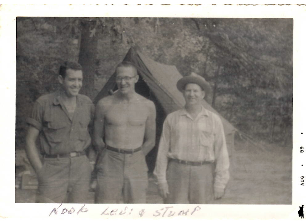 My grandfather, Levi, and his hunting and fishing buddies