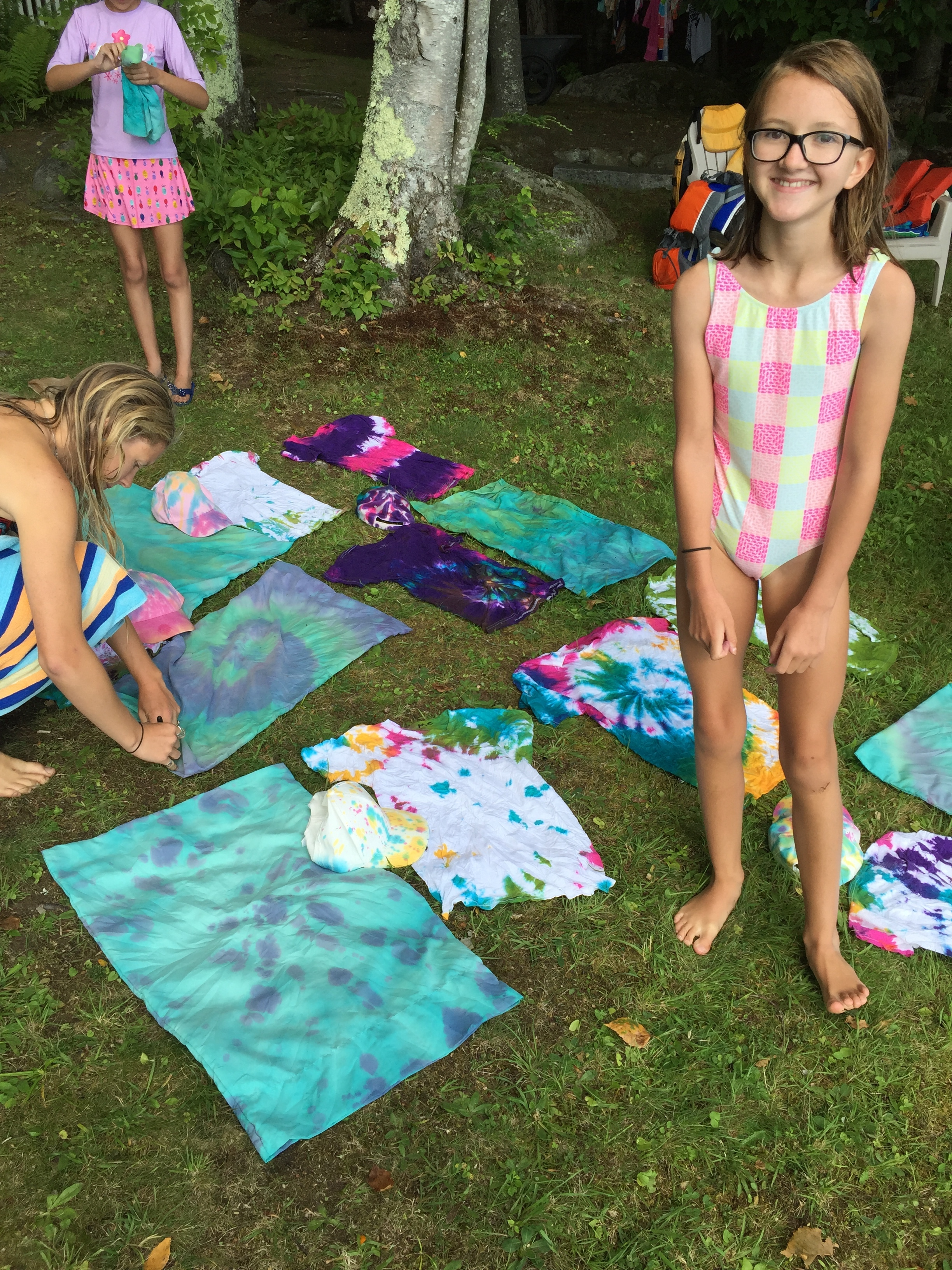 Our tie dye from yesterday!