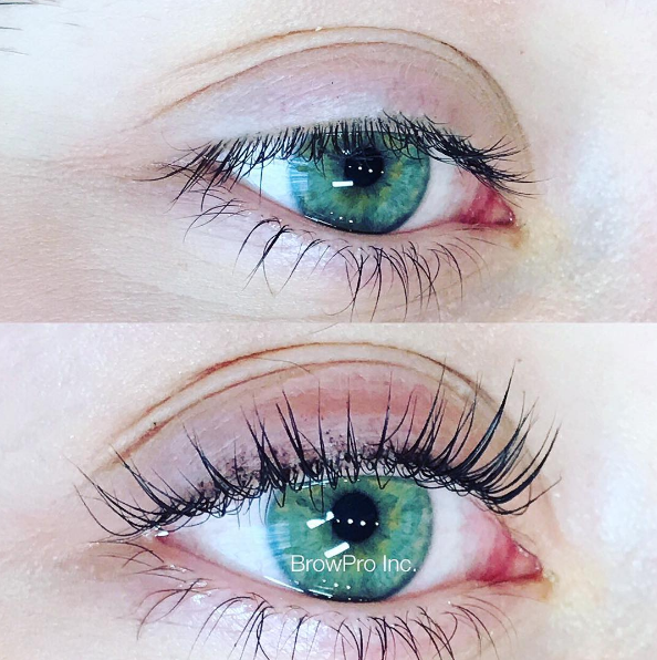 An eyelash lift and tint made all the difference!