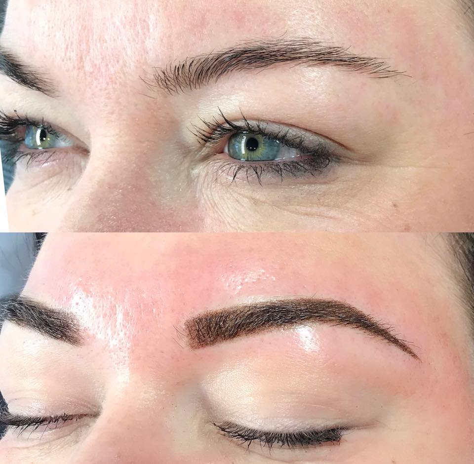 Ashley Knight from Tattoos and Tiaras Beauty Bar loves her powdered ombré brows!