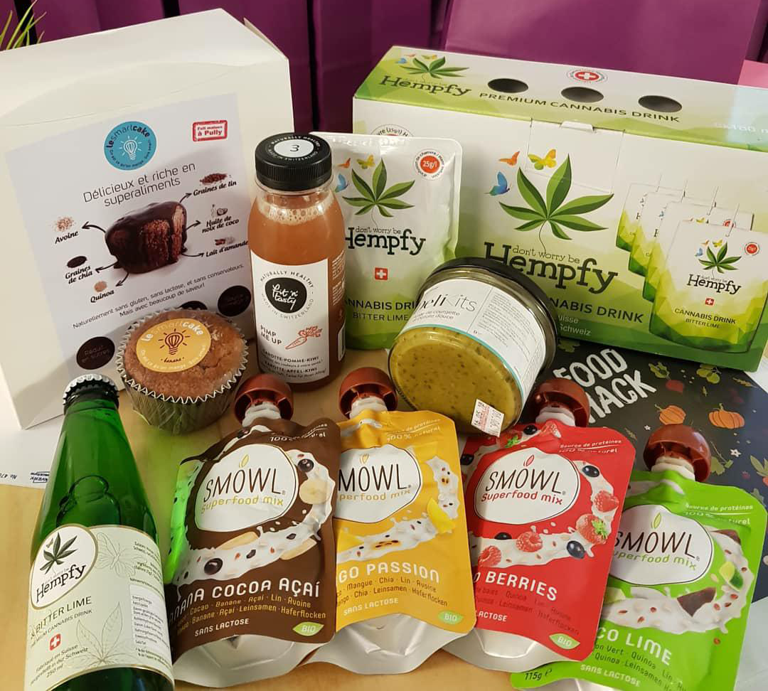 Some of the future focused brands in the FoodHack network.  Le Smart Cake ,  Hempfy ,  SMOWL  ,  Fit'n'Tasty  &  DeliKits .