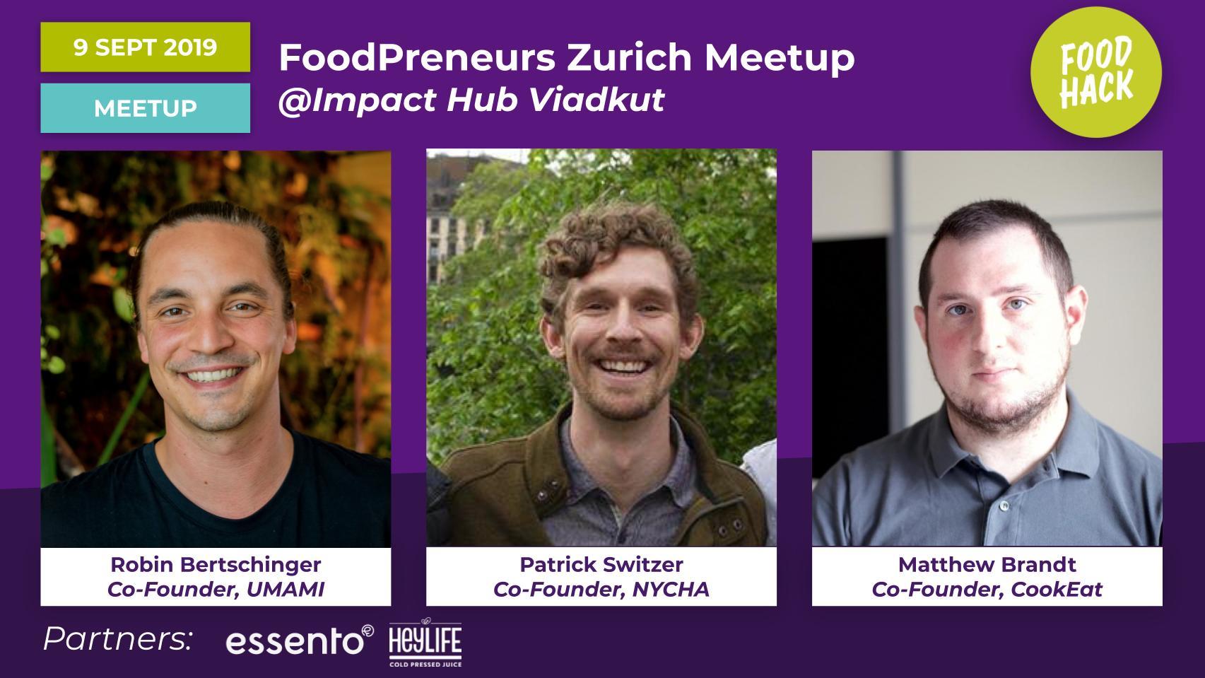FoodHack Zurich Speakers - UMAMI, NYCHA, Cook Eat