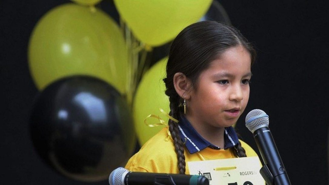 William Kaysaywaysemat III from Kahkewistahaw First Nation, Saskatchewan competes at his first Spelling Bee of Canada championship in Toronto