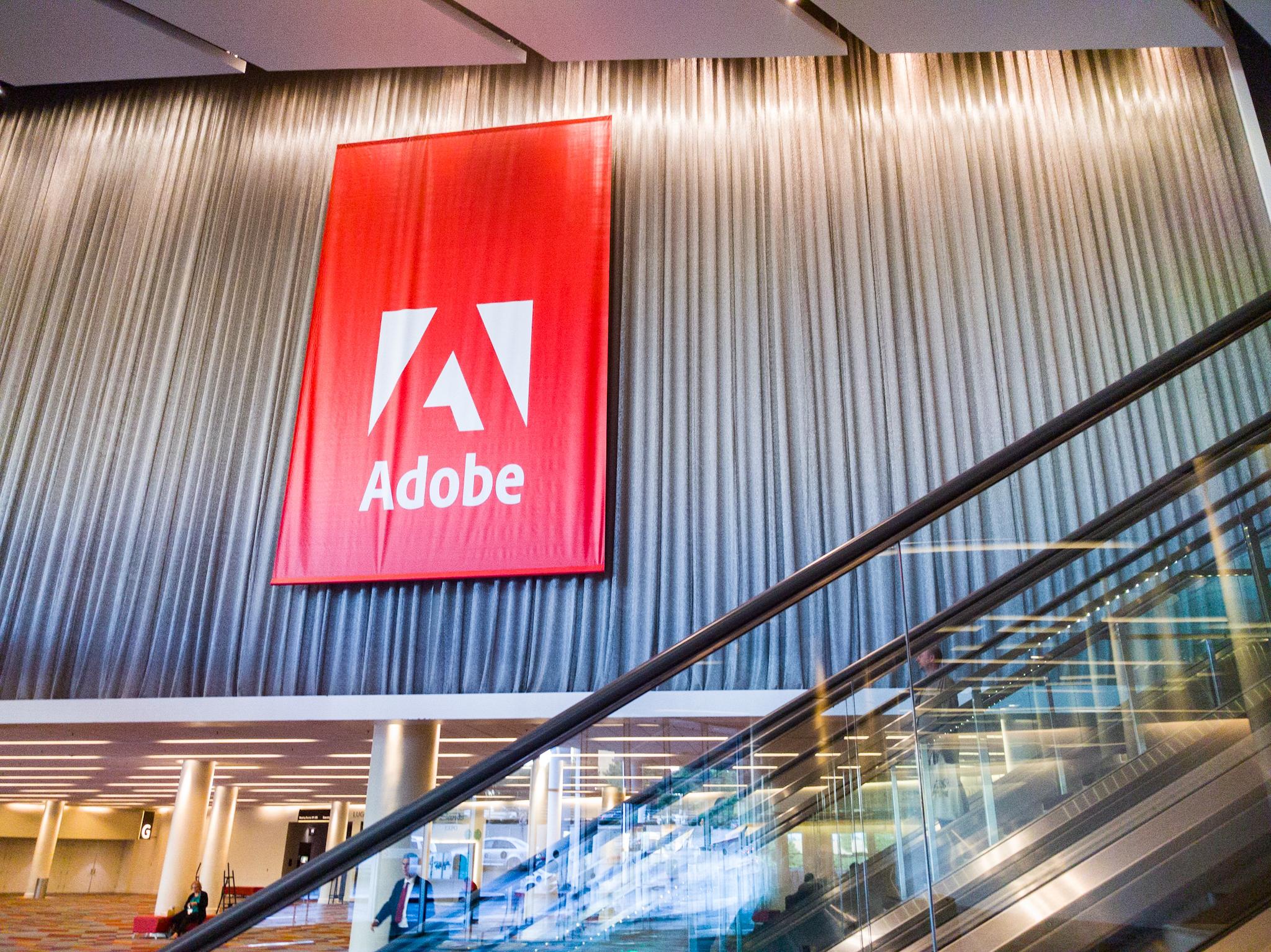 Adobe Max Banner at Adobe Max 2017