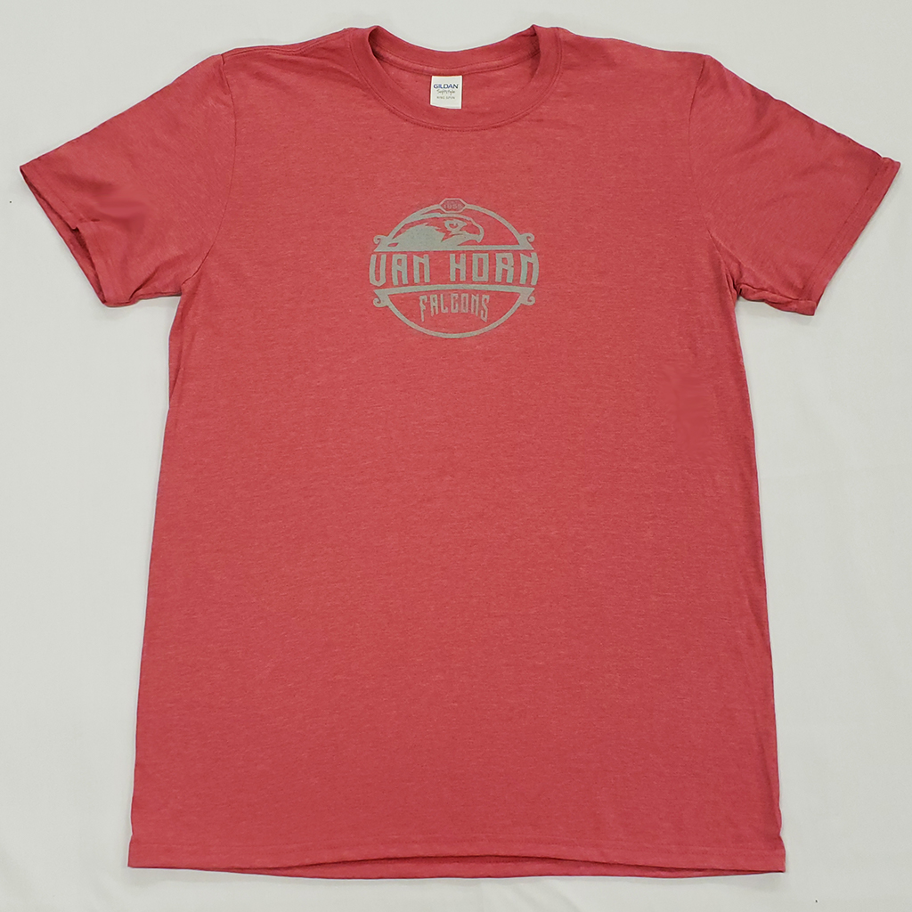 Heather Red Circle-Design Tee   from 9.99