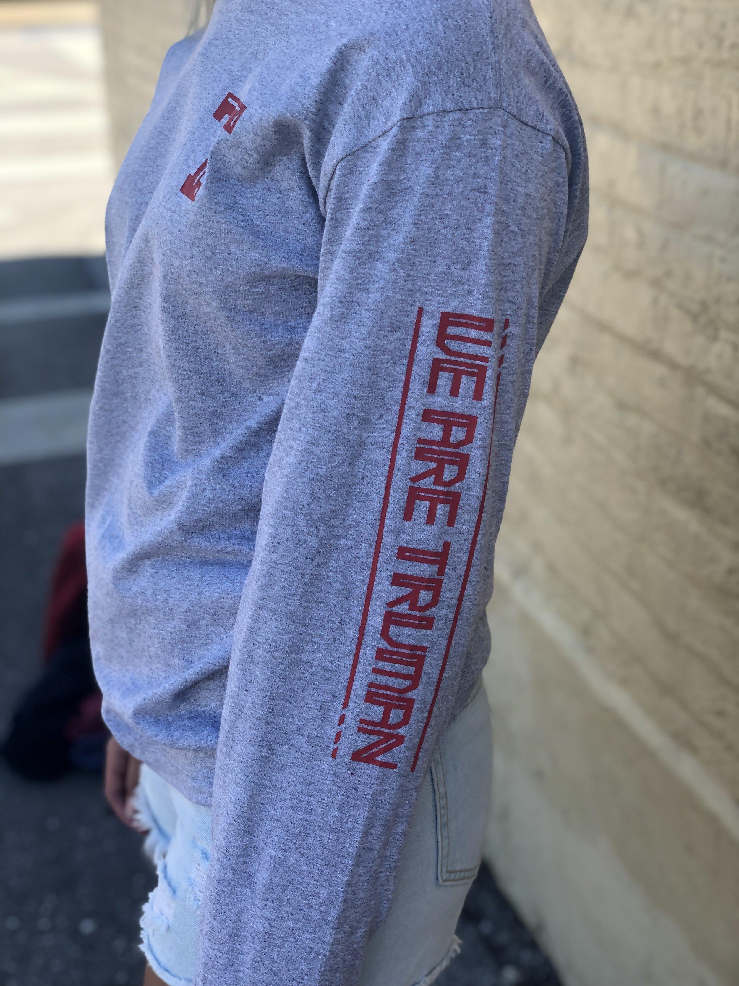 Grey Sleeve-Design Shirt - Truman model side.jpg