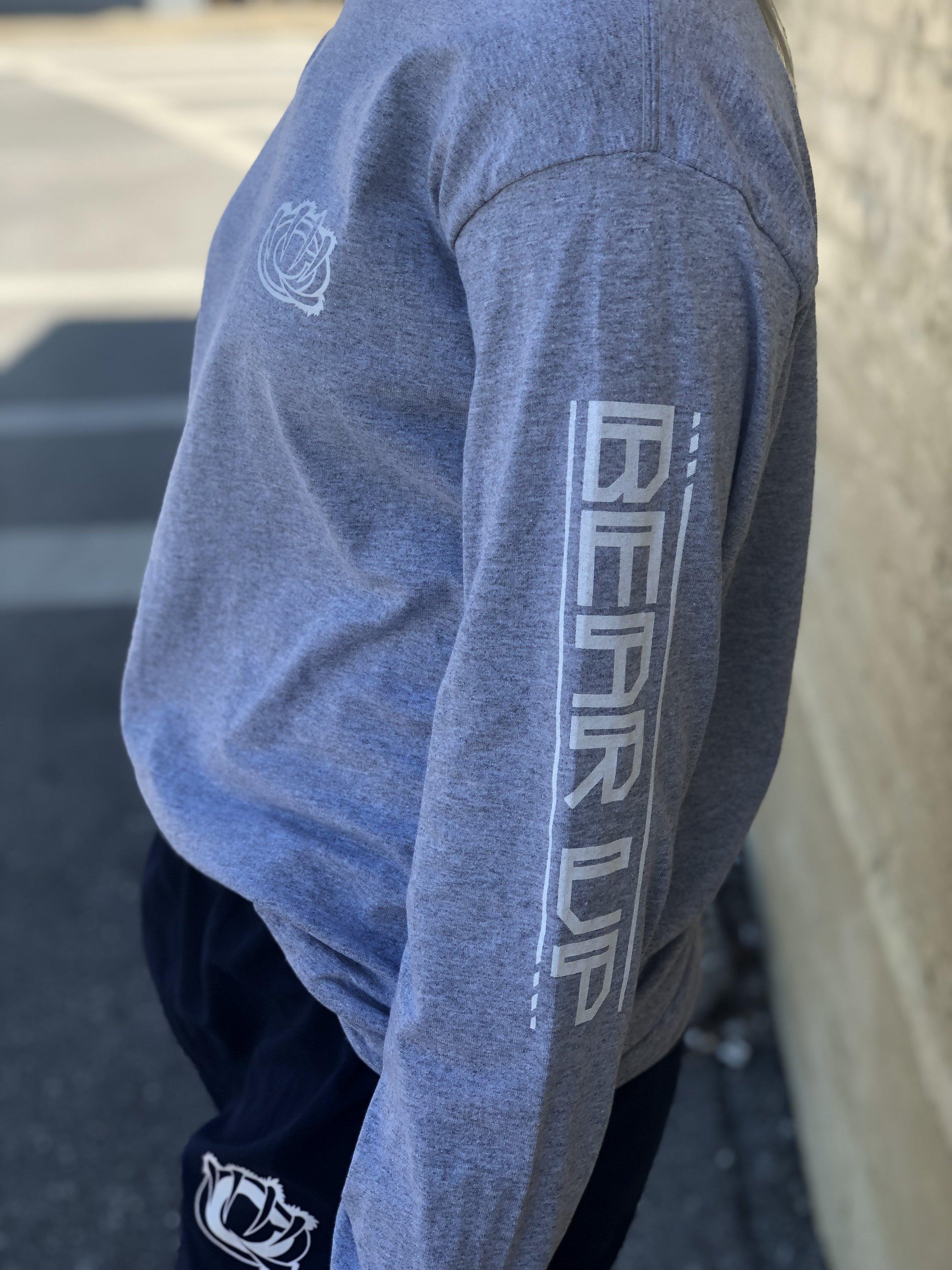 Grey Sleeve-Design Shirt - WC model side.jpg