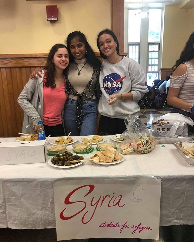 SFR Students representing Syria at Scarsdale High Schools's international lunch day!