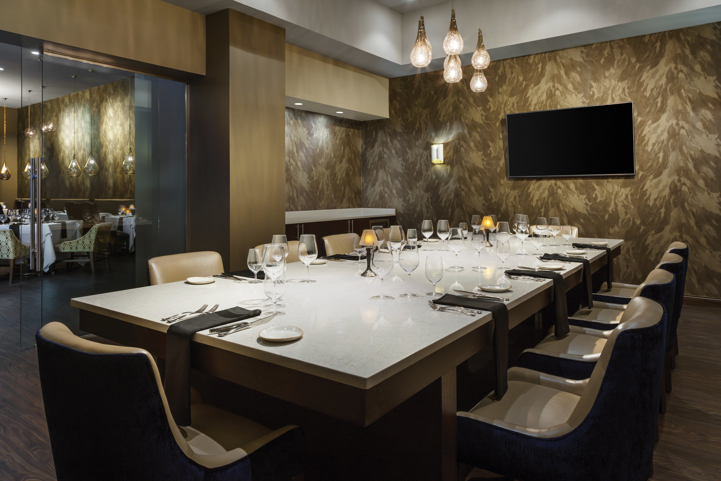 Seared Fine Dining Private Dining Room for intimate get-to-gethers.
