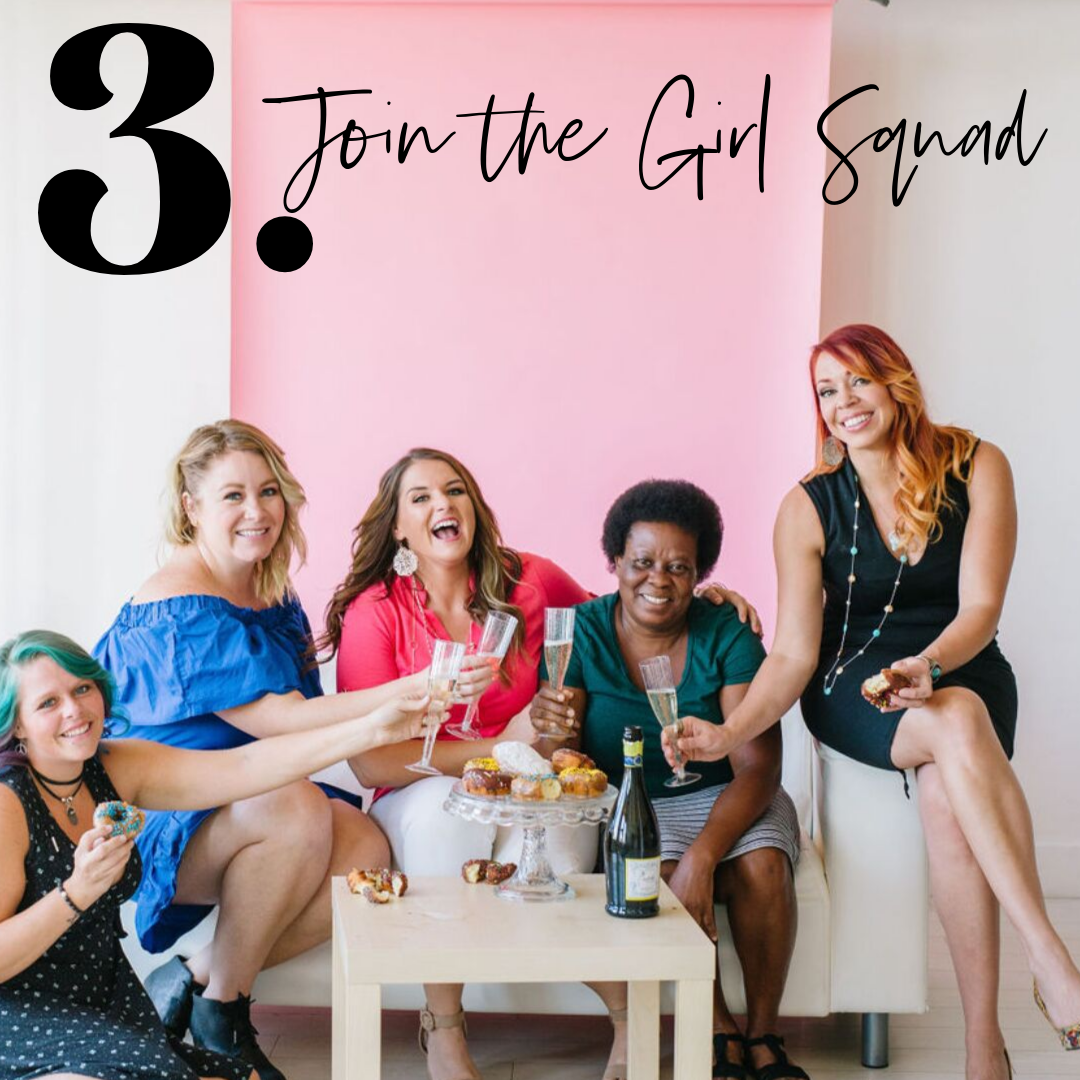 JOIN THE COMMUNITY - She's so girl squad! Pop into our brand new global world on FB.Join the convo or start your own!