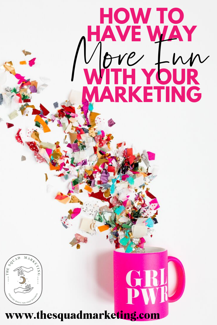 Marketing is way more fun when you are actually having fun. We get super caught up in what we think we should be doing that we totally end up sucking our own voice and soul out of it. Here are some fun steps to get you started!