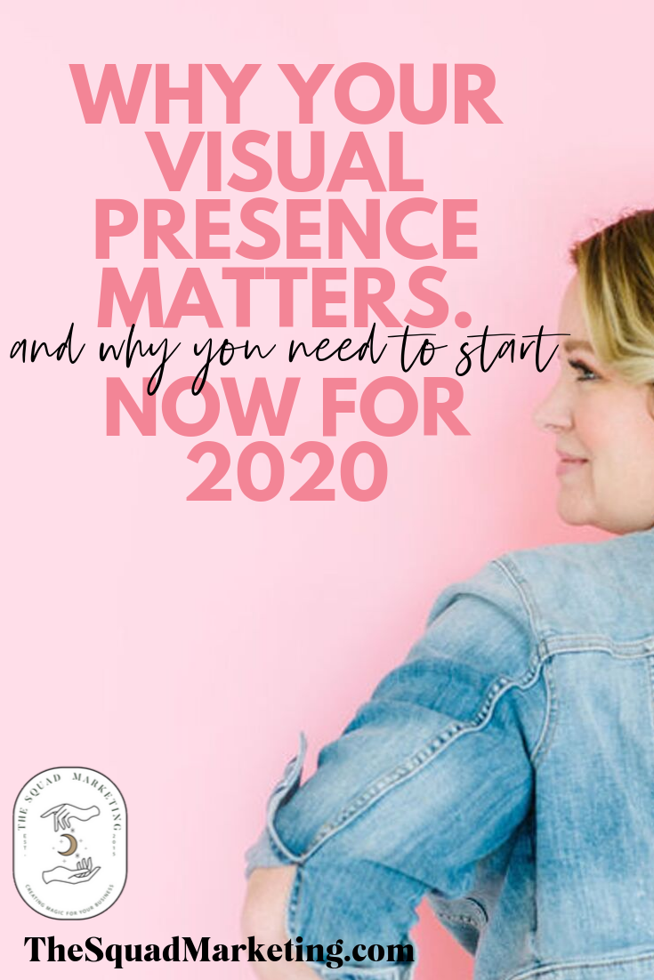Your visual presence matters! Here's how to get started with creating more than just a brand in 2020. Branding for online female entrepreneurs.
