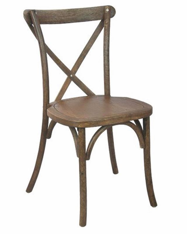 Now offering Wood Crossback Chairs!  These chairs add that beautiful rustic look to any event.  Contact us for pricing!