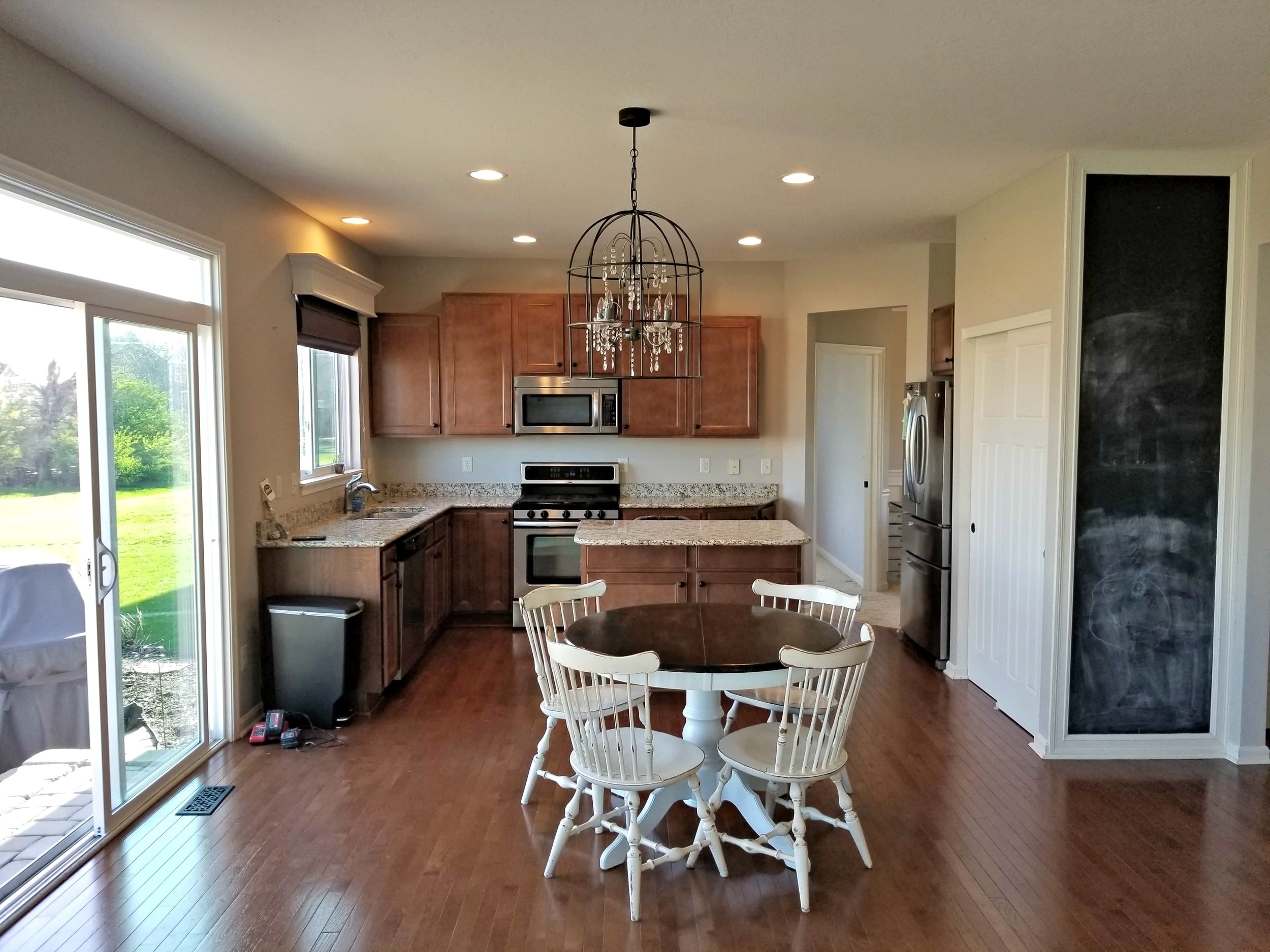 - This incredible space began as two smaller rooms...behind the stove wall there was a small office room...