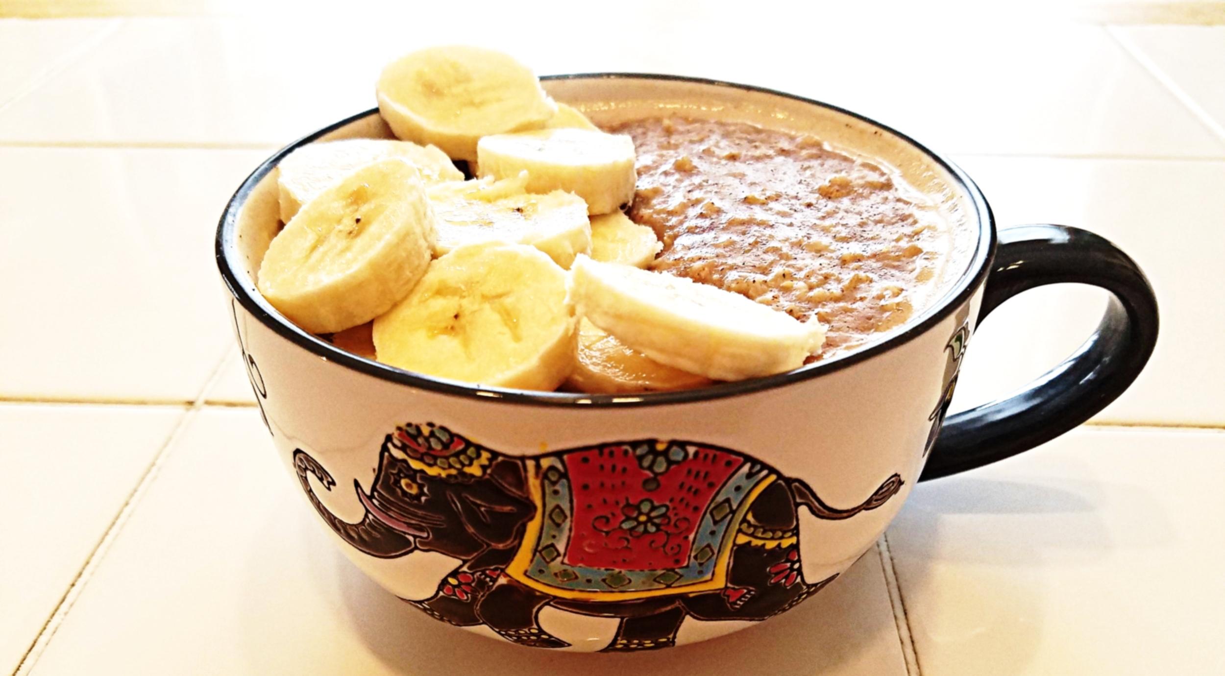 Cinnamon, Banana, Chia Seed Oatmeal