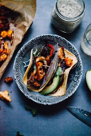 Oyster Mushroom Cauliflower Tacos