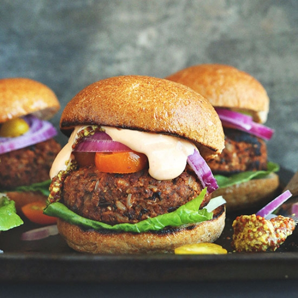 Even though  veggie burgers  can be damn delicious.