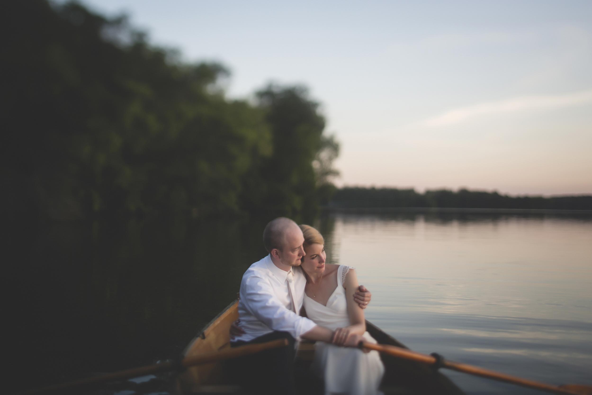 88 Minneapolis Northfield home backyard outdoor wedding lake canoe couple 7.jpg