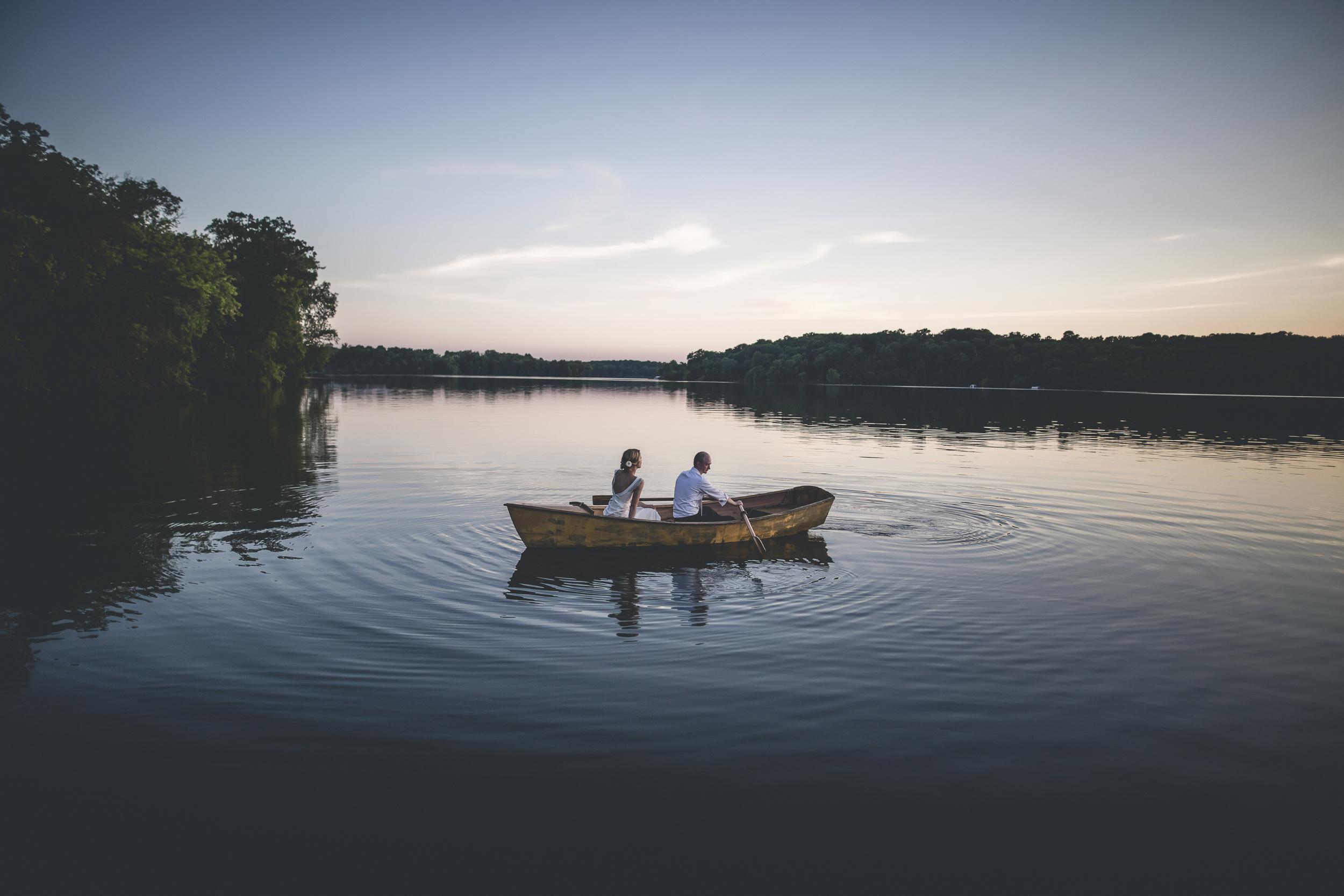 89 Minneapolis Northfield home backyard outdoor wedding lake canoe couple 8.jpg