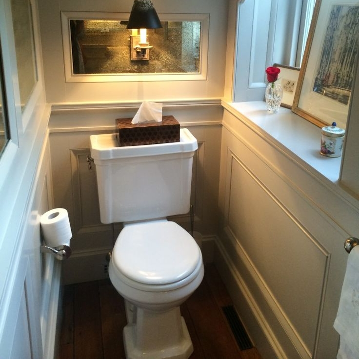 Toilets are often installed in tight places.