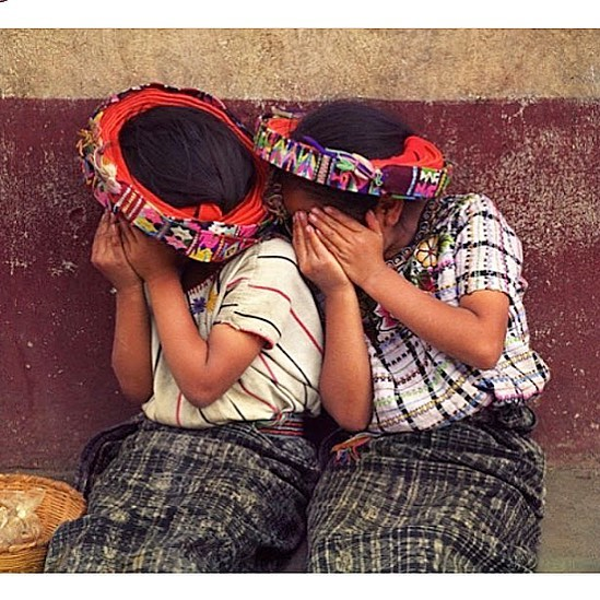 Cuteness overload! 😍 There's so much emotion in this photo even tho the girls' faces can't be seen ✨ Only @chicabal_co #repost #jonkaplan #girls #cutenessoverload #shy #guatemala #mexico #traditional #ethical #handmade #handwoven